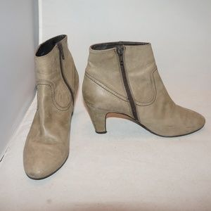 J. Crew soft tan leather ankle boot